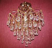 Хрустальная люстра классическая FG (золото) припотолочная.  P5-L0268/6+6/FG