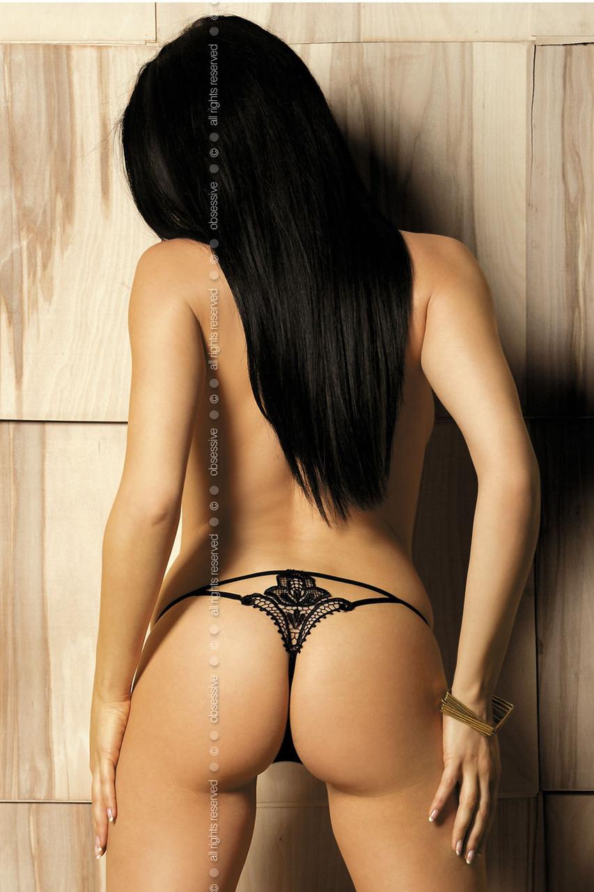 Obsessive  Luiza thong black(трусики-стринги)
