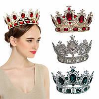 Круглые короны и короны на обруче для награждения, высота от 4 см.