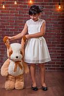 Нарядное детское платье с бантиком