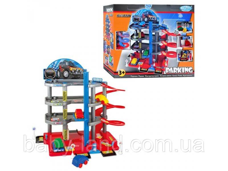 Гараж паркинг детский игровой набор 4 этажа Mochtoys 10336