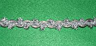 Тесьма декоративная люрекс серебро  6102