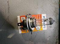 Лампа автомобильная Н4 Р43 12V 60/55W PHILIPS PREMIUM Волга, Газель, Соболь, УАЗ,2410,3110,3302,2217,2705,2101