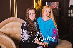 Платья стиль бохо вышиванка лен - вишите плаття