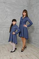 Стильное женское и детское платье в комплекте