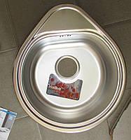 Мойка кухонная HAIBA капля 44*50 satin, толщина 0,8 мм+сифон ф110, фото 1