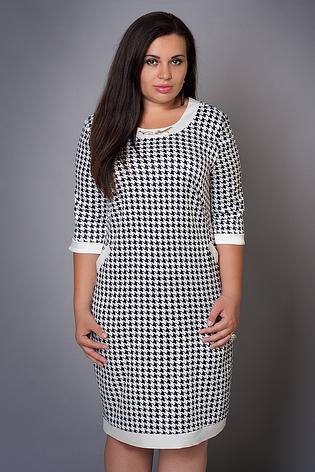 Эффектное демисезонное короткое платье размер 46-48, фото 2