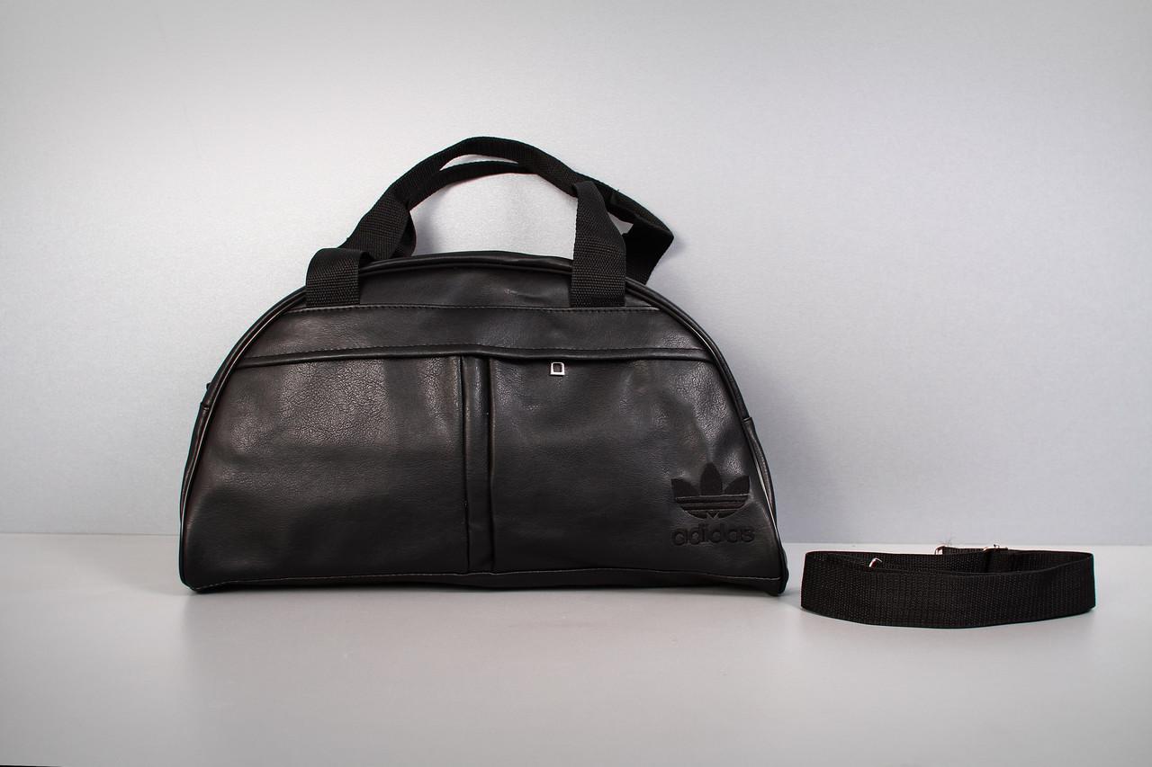 Спортивная сумка Adidas ( черный  логотип  )-реплика