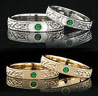 Обручальное кольцо с драгоценным камнем от WickerRing