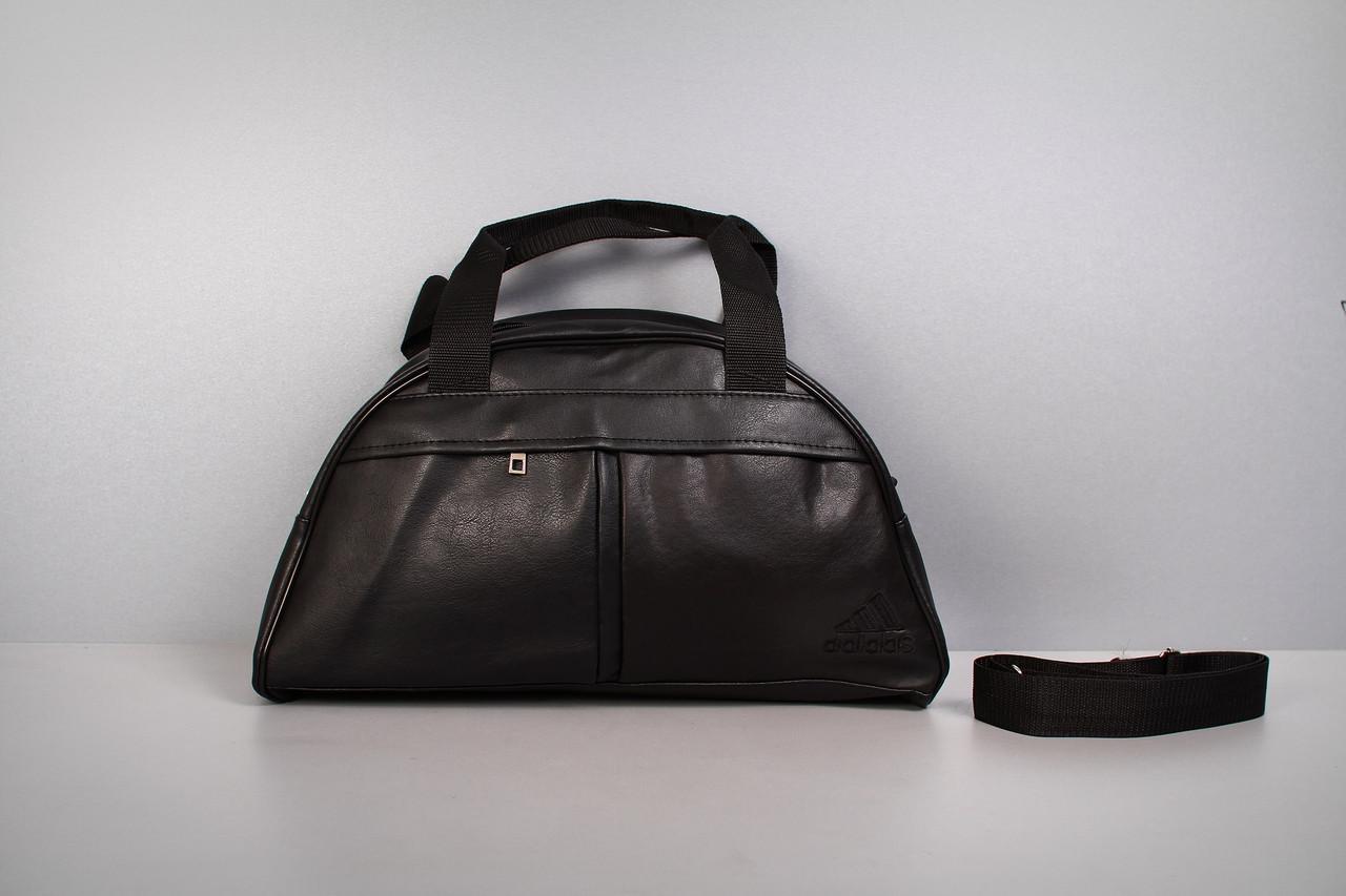 Спортивная сумка Adidas ( черный  логотип 2  )-реплика
