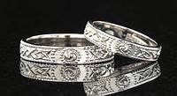 Обручальное кольцо из белого золота от WickerRing