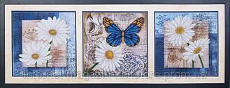Вышивка бисером Цветы любви (триптих)