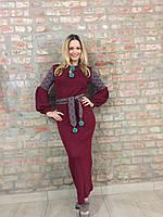 Вязаное платье со скандинавским орнаментом KAVERINA