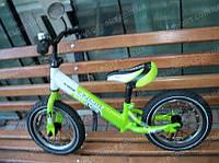 Детский велобалансир, беговел, велобег Balance Bike AIR 12 дюймов Салатовый