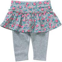 Бриджи с юбкой для девочки леггинсы юбка детская одежда лосины капри