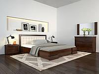 Регина люкс с П.М. кровать двухспальная 180х200 (сосна) орех темный + Ортопедический каркас