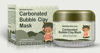 Глиняно-пузырьковая маска для лица bioaqua carbonated bubble clay mask