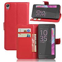 Чехол Sony Xperia E5 / F3311 книжка PU-Кожа красный