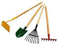 Лопаты, грабли, сапки, вилы