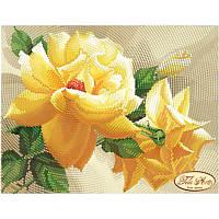 Схема для вышивания бисером Tela Artis Роза флорибунда ТМ-094
