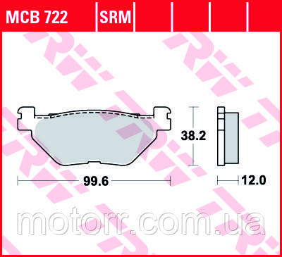 Тормозные колодки TRW / LUCAS MCB722