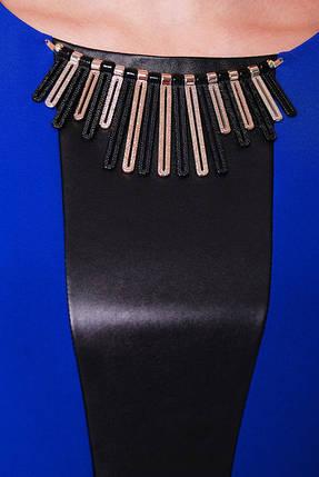 Женское вечернее платье Елена электрик (экокожа) размер 52,54,56 / батальное, фото 2