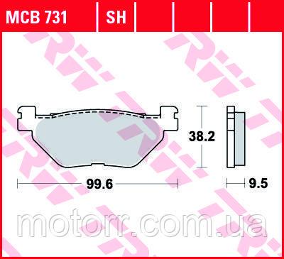 Тормозные колодки TRW / LUCAS MCB731