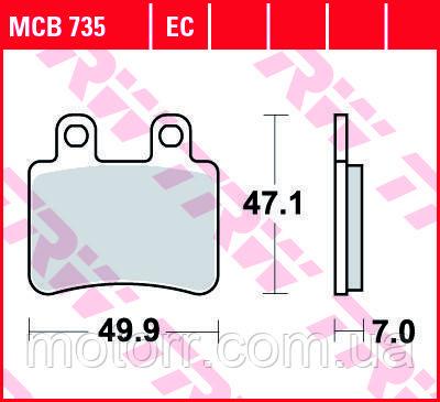 Тормозные колодки TRW / LUCAS MCB735