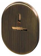 Декоративная накладка ESC 476 AB БРОНЗА на сувальдный замок с шторкой