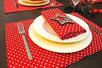 Подставка для стола Красные звездочки 50*50 см