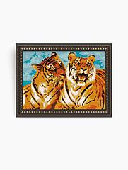 Авторская канва для вышивки бисером «Тигры»