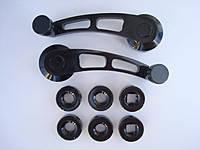Универсальные автомобильные ручки стеклоподъёмника чёрные,синие,блестящие 3006