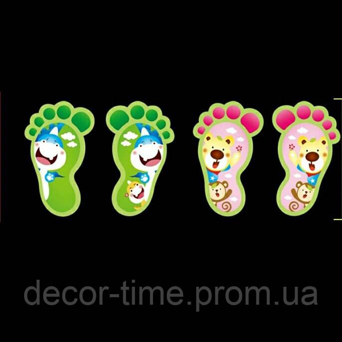 Детские наклейки на стену, пол, у ванную  , светящиеся следы(4075040)