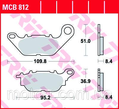 Тормозные колодки TRW / LUCAS MCB812