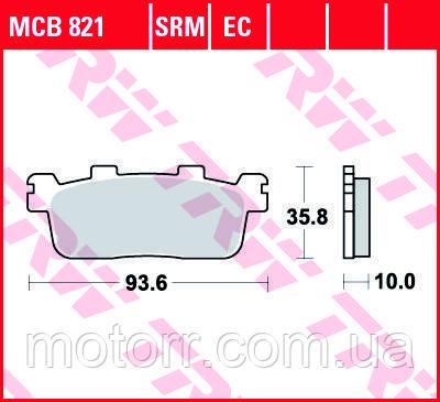 Тормозные колодки TRW / LUCAS MCB821