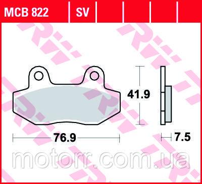 Тормозные колодки TRW / LUCAS MCB822