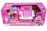 """Кассовый аппарат 7255, """"Мой магазин Play Smart"""", набор продуктов, кредитная карта, звуковые эффекты, в коробке"""