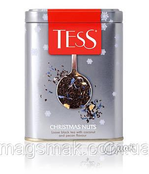 ЧАЙ TESS CHRISTMAS NUTS (КРИСТМАС НАТС), ЧЕРНЫЙ, ЛИСТОВОЙ, Ж/Б, 110 г, фото 2