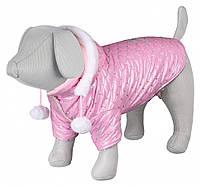 """Куртка зимняя для собак""""Dog Princess""""с капюшоном,27 см,розовый"""