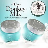 Ночной питательный гель с ослинным молоком Miclan Donkey milk power aqua sleeping gel. Объём: 100 мл.