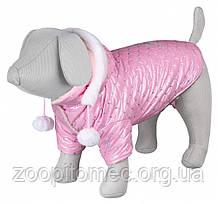 "Куртка зимова для собак""Dog Princess""з капюшоном,21см,рожевий"