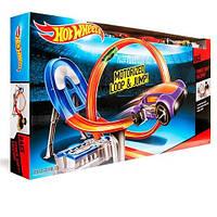 Моторизированный Трек хот вилс супер трек Hot wheels 8 в 1 с шестью машинками в комплекте., фото 1