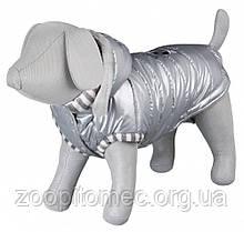 Куртка зимова з капюшоном для собак Trixie Dog Prince срібло 27 см