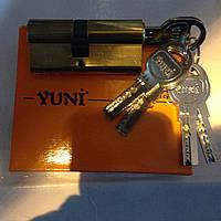 Цилиндровые механизмы Yuni 103 TSB с лазерным ключом с барашиком 68мм.
