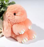 Меховой брелок Кролик 19 см