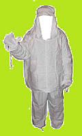 Маскхалат СССР белый хлопок 3 рост ( зимний маскировочный костюм)