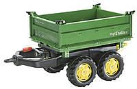 Прицеп 2-х осный для трактора Rolly Toys Mega Trailer зеленый