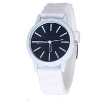 Женские силиконовые наручные часы кварцевые Feb22 на силиконовом ремешке белые, черные, фото 1