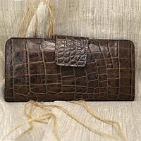 Кошелек большой кожаный К-05 (коричневая рептилия)