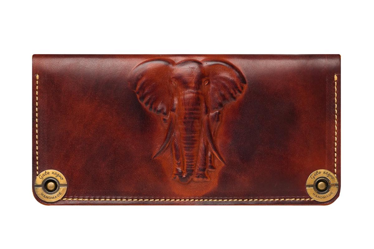 """Кошелек кожаный """"Слон"""", фото 1"""